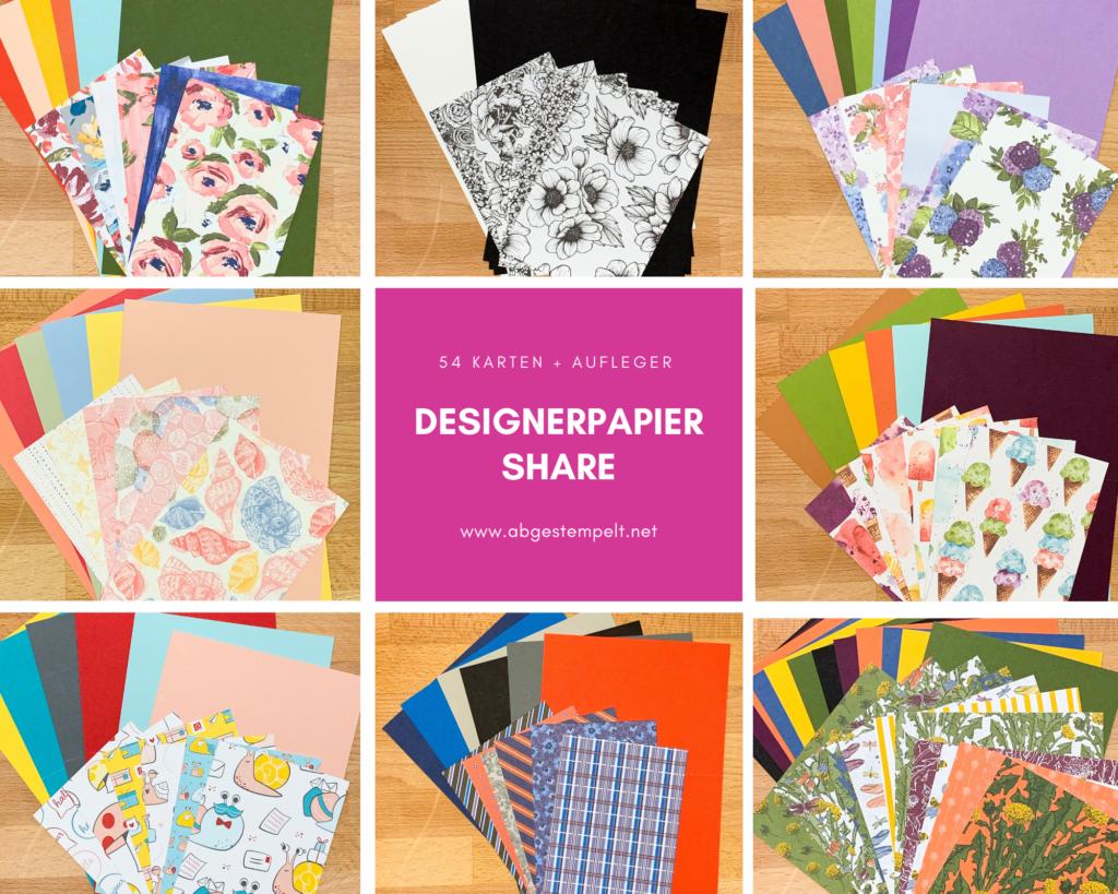 Desinerpapier Share abgestempelt stampin up 2021