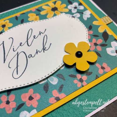 Stampin' Up! Dankeskarte Wiesenblumen zusammen nah
