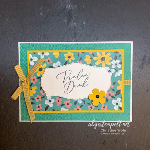 Stampin' Up! Dankeskarte Wiesenblumen + zusammen voll