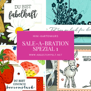 Mini-Kartenkurs Sale-a-bration Spezial 1 stampin up abgestempelt