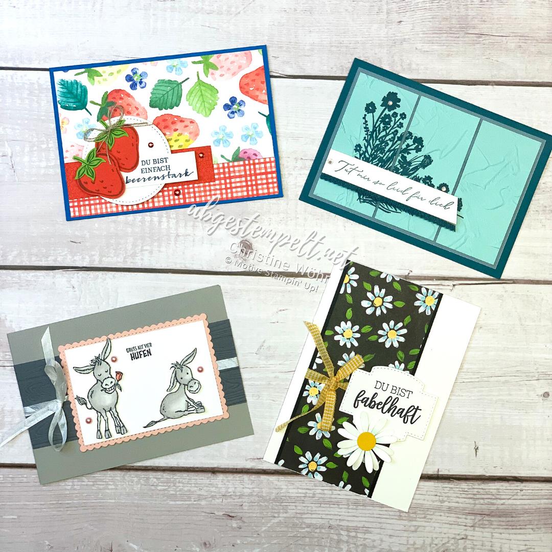 Stampin Up Mini-Kartenkurs Februar Sale-A-Bration Spezial 1