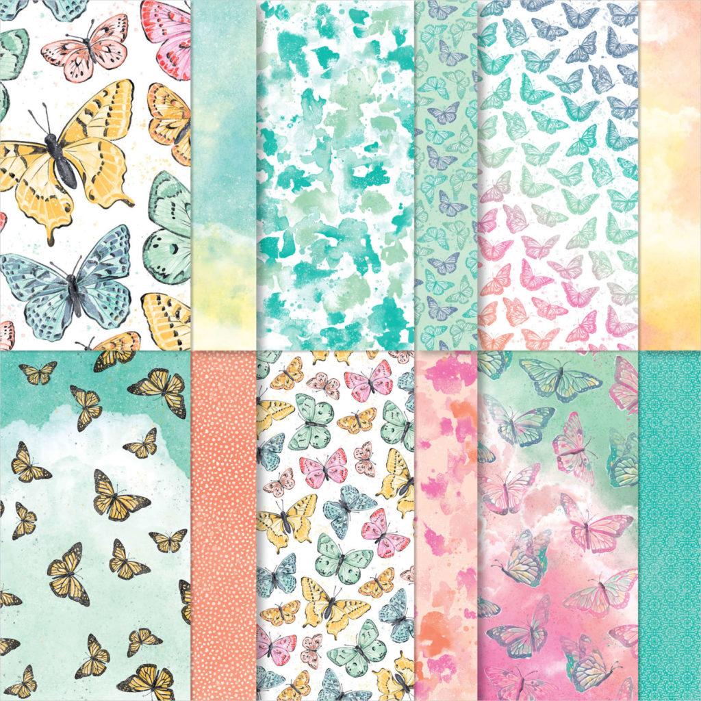 Designerpapier Schmetterlingsschmuck - 156824