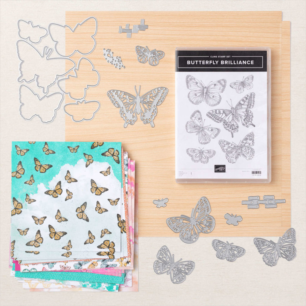 Produktreihen-Kollektion Butterfly Brilliance Stampin Up abgestempelt