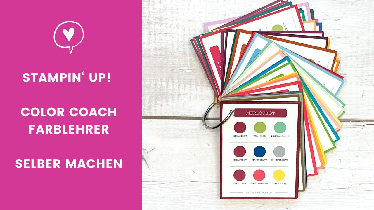 Blogpost Stampin' Up! Color Coach Farblehrer abgestempellt