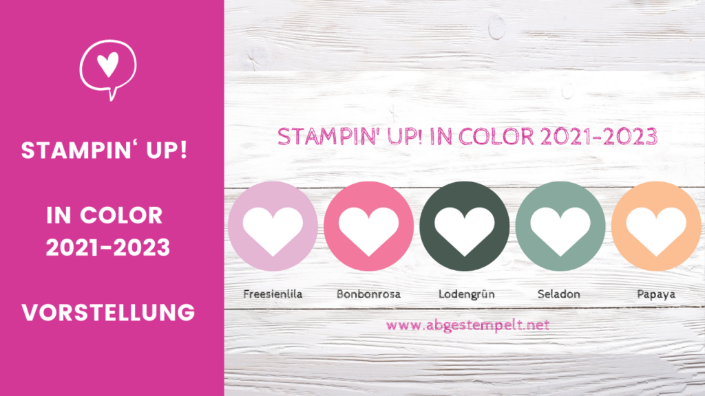 Blogpost Stampin' Up! In Color 2021-2023 abgestempelt