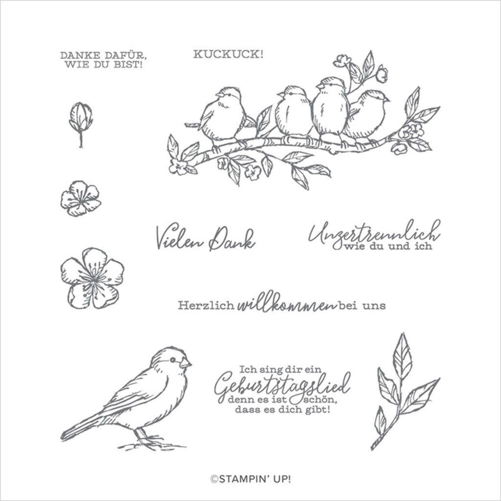 Stempelset Frei wie ein Vogel - 150177