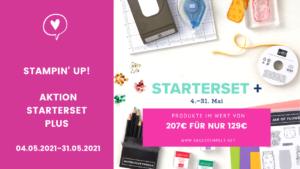 Aktion Stampin Up Starterset plus 2021 Mai abgestempelt