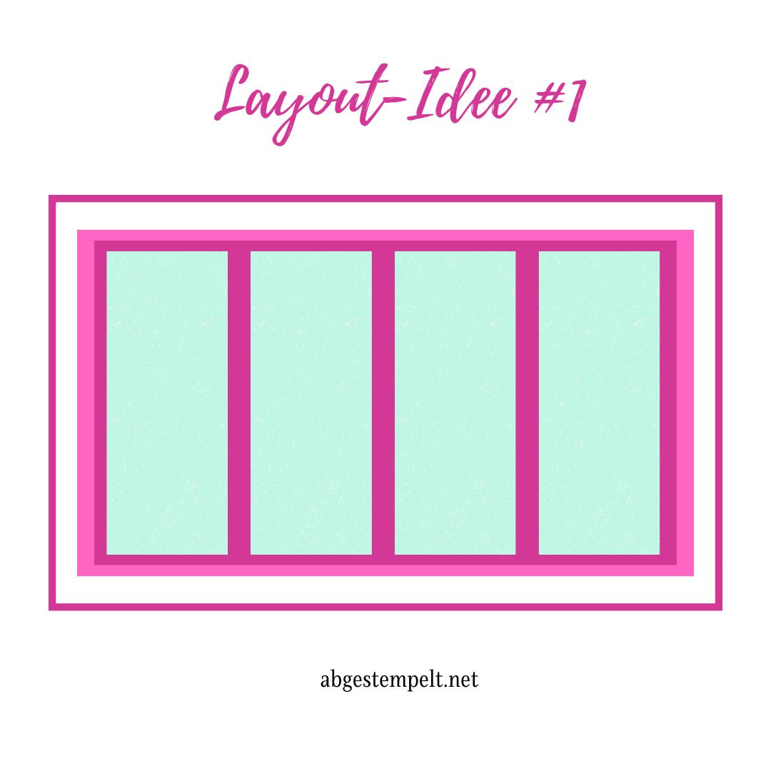 Stampin Up Karten Layout Idee #1 abgestempelt