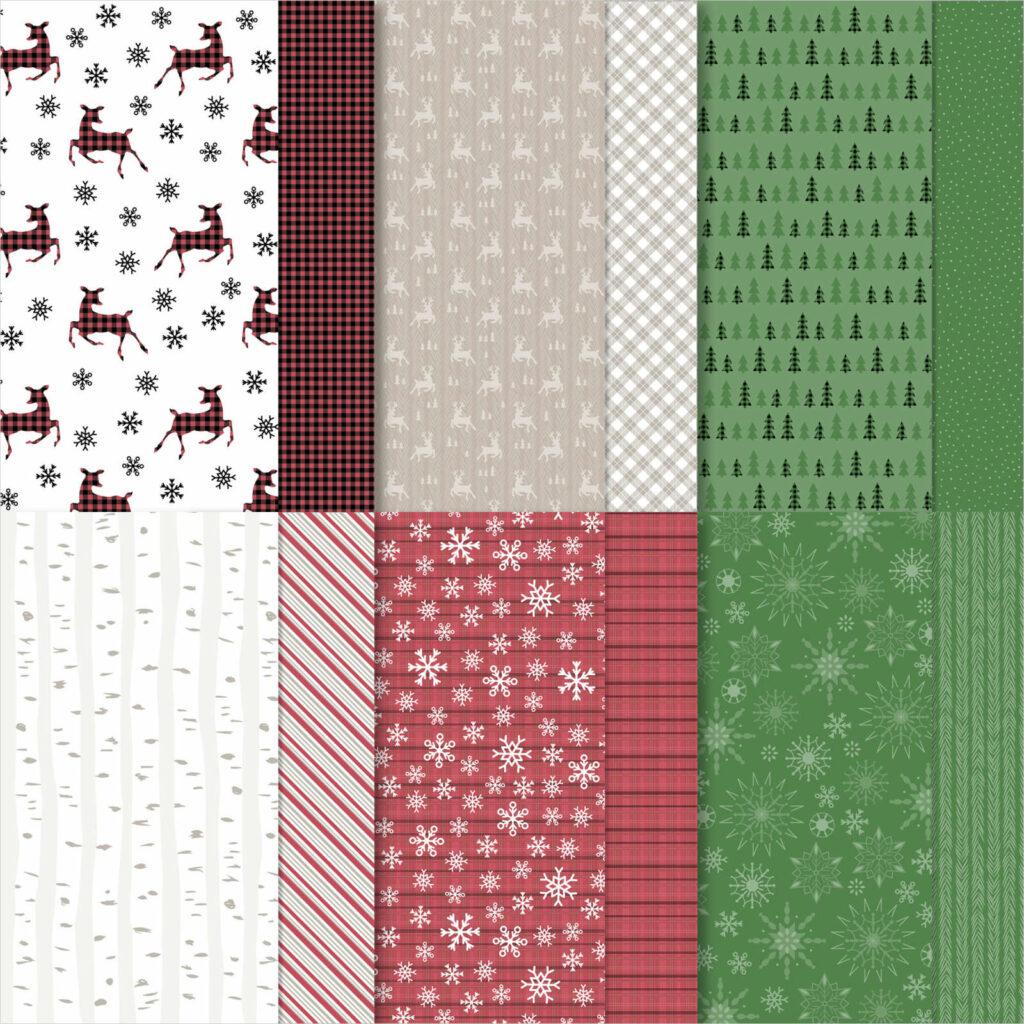Designerpapier Weihnachtliche Prints - 156628
