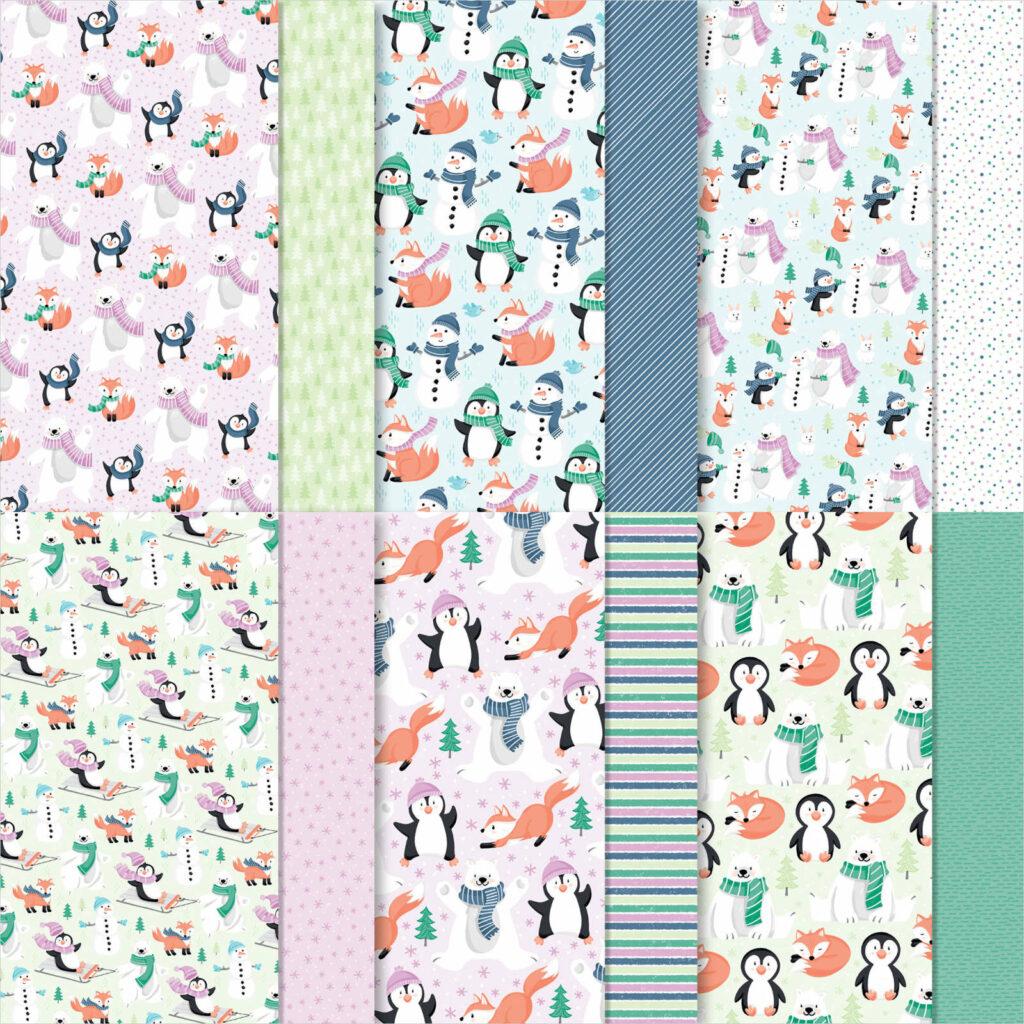 Designerpapier Pinguin & Co - 158420