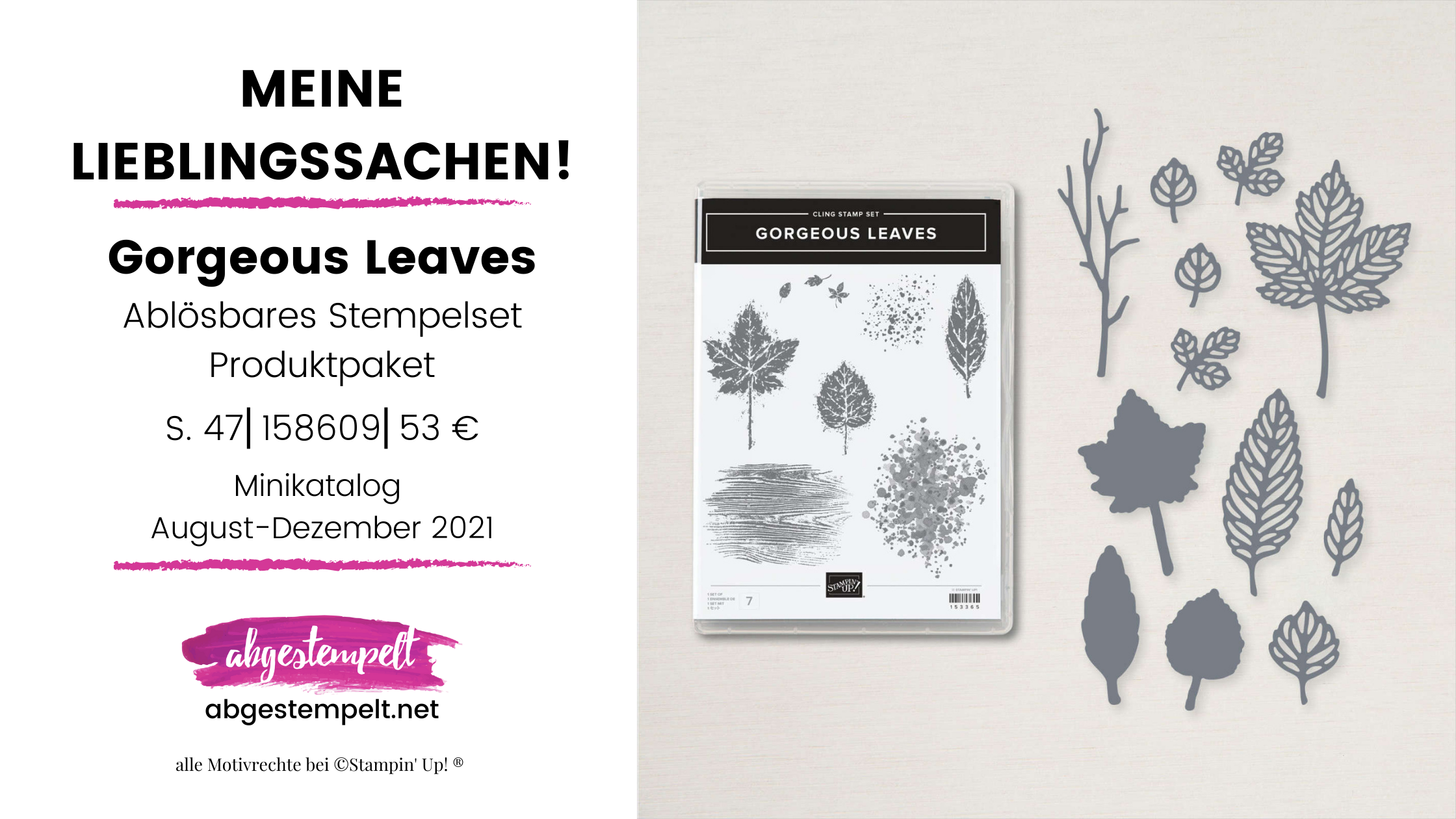 Gorgeous Leaves Stampin Up Lieblingssachen