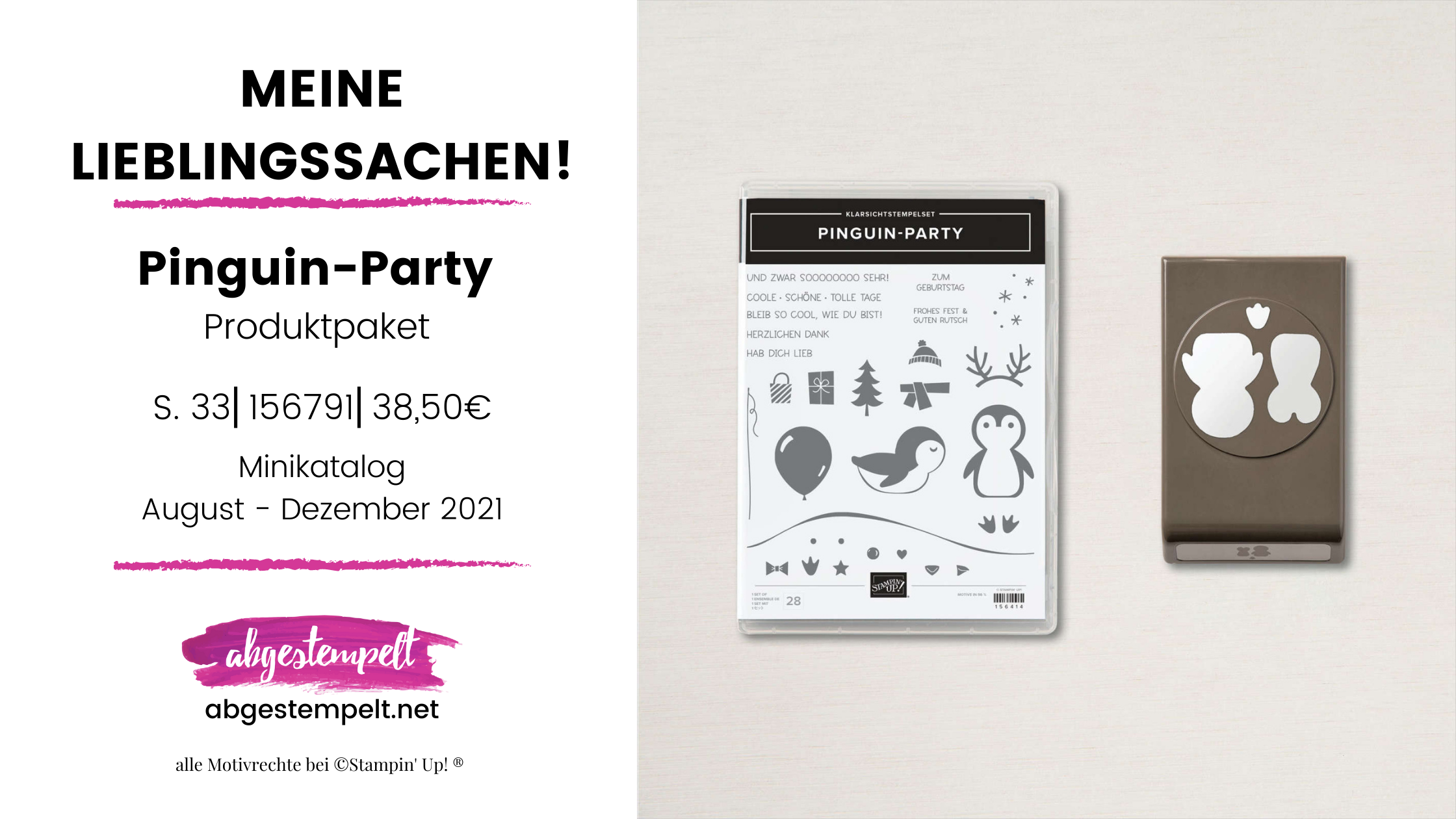 Pinguin-Party Stampin Up Lieblingssachen