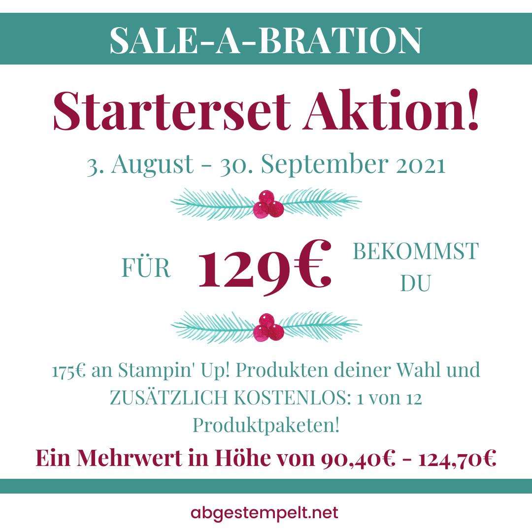 Stampin Up Sale A Bration Starterset Aktion