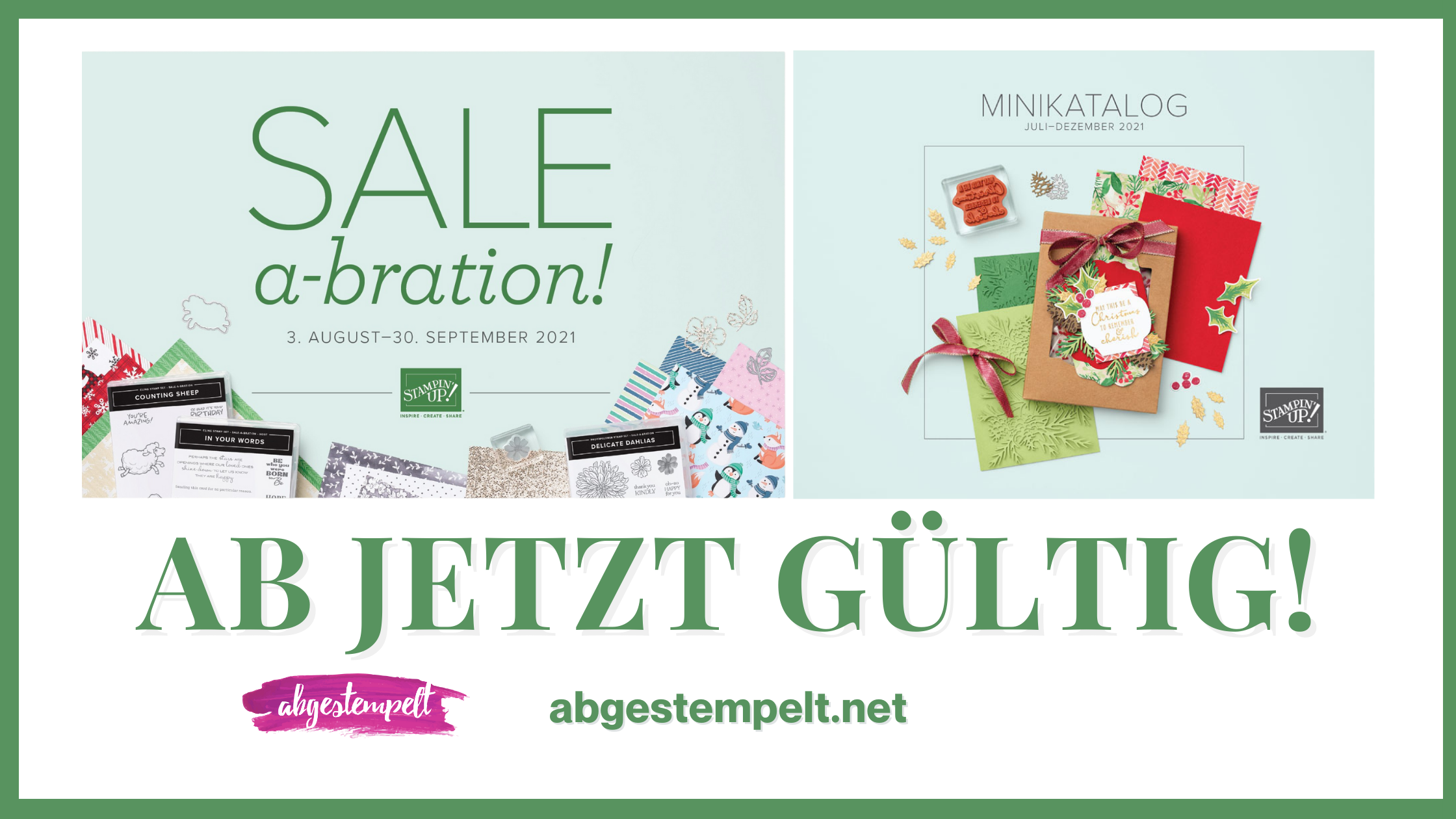 Stampin Up Sale-A-Bration August Minikatalog