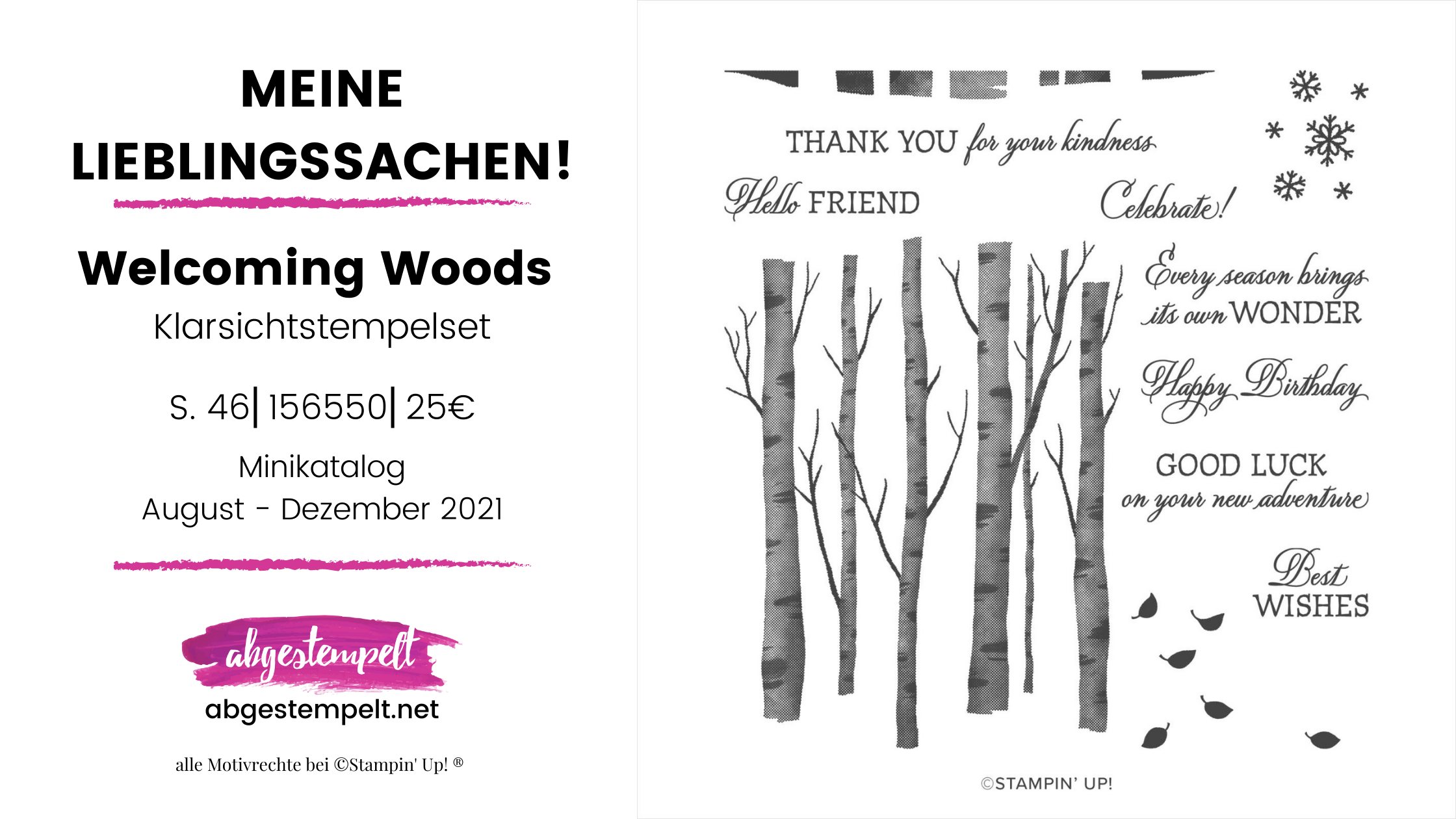 Welcoming Woods Stampin Up Lieblingssachen